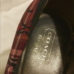 Coach plaid heels